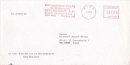 AMOUNT 700, WIEN, EVANGELICHAL CHURCH IN AUSTRIA METERMARK, RED MACHINE STAMPS ON COVER, 1995, AUSTRIA - 1945-.... 2nd Republic