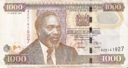 BILLETE DE KENIA DE 1000 SHILINGI DEL AÑO 2004 (BANK NOTE) ELEFANTE-ELEPHANT - Kenia