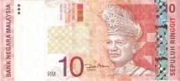 BILLETE DE MALASIA DE 10 RINNGIT DEL AÑO 2004 (BANKNOTE) TREN-TRAIN-ZUG - Malasia