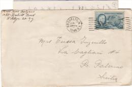 STATI UNITI  /  ITALIA  -  1946  Cover _ Lettera  - 5 Cent. - Marcofilie