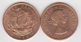 GRAN  BRETAÑA   1/2  PENNY  1.966  BRONCE  KM#896   SC/UNC-   T-DL-10.230 - 1971-… : Monedas Decimales