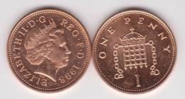 Gran Bretaña 1 Penny 1.998 Bronce KM#986 SC/UNC         T-DL-10.309 - 1 Penny & 1 New Penny