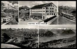 ÄLTERE POSTKARTE HOTEL RIGI-KULM BAHN Zug Railway Eisenbahn Lokomotive Locomotive Train Cpa Postcard AK Ansichtskarte