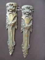 5 +    2 Garnitures De Meubles Anciennes Bronze - Bronces