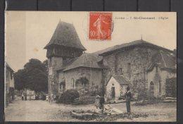19 - St Chamant - L'Eglise - Animée - Andere Gemeenten