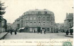 N°36913 -cpa Fecamp -entrée Des Rues Jacque Huet Et Casimir Perrier- - Fécamp