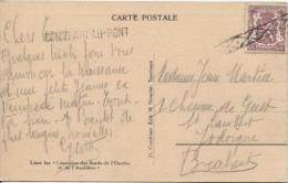TP 284 S/CP Panorama Pont De Scay C.roulette + Griffe Comblain Au Pont V.Jodoigne PR599 - Postmark Collection