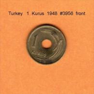 TURKEY    1  KURUS  1948   (KM # 881) - Turkey