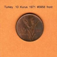 TURKEY    10  KURUS  1971   (KM # 891.2) - Turkey