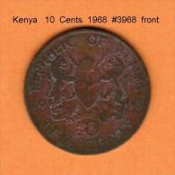 KENYA    10  CENTS  1968  (KM # 2) - Kenya