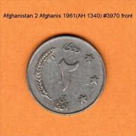 AFGHANISTAN    2  AFGHANIS  1961 (AH 1340)  (KM # 954.1) - Afghanistan