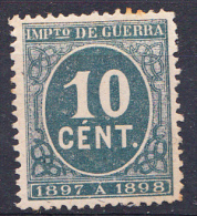 ESPAÑA 1897. IMPUESTO DE GUERRA EDIFIL Nº 233. VERDE  . NUEVO  . SES 520 - 1889-1931 Reino: Alfonso XIII