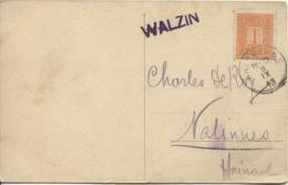 TP 108 S/CP Château De Walzin C.Anseremme 9/9/13 + Griffe Walzin V.Nalinnes PR600 - Postmark Collection