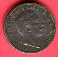 PRUSSE GUILLAUME III  1907 TB+ 73 - [ 2] 1871-1918 : German Empire
