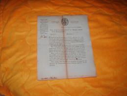 DOCUMENT ANCIEN CIRCULAIRE N°2012. / PARIS LE 12 PRAIRIAL AN 9. / DROITS D'ENREGISTREMENT A PERCEVOIR SUR LES ACTES..... - Documenti Storici