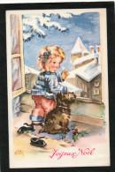 LUCE ANDRE. Petite Fille à La Fenêtre Avec Son Chien. Joyeux NOEL - Illustratori & Fotografie