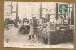 1615. - Asile De BRON (Rhône). - La Cuisine - Voyagée 1908 - CUISINE - FOURNEAUX - ASILE - CUISINIER - Bron