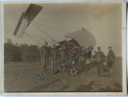 Photo Guerre 14-18 Militaire Aviation Avion Crash Pilote Military Airplane WW1 - Krieg, Militär
