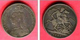 VICTORIA 1 LIVRE 1889 TB 38 - 1816-1901 : Frappes XIX° S.