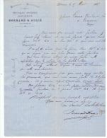 DRAPERIES   & NOUVEAUTES  BERNARD & AUGIE   à LIBOURNE  1882 - Textile & Vestimentaire