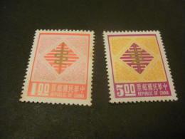 K8839- Set  - Spots Of Rust On Back -1 On Front China- 1976  SC. 2028-2029- Brazen Serpent  MNH** - Nuovi