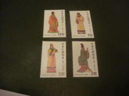 K8876- Set China- 1988- SC. 2660- 2663- Folk Costumes MNH** - 1949 - ... République Populaire