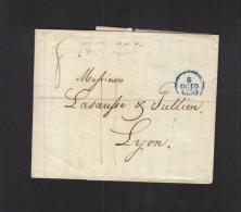 Lettre 1830 Paris A Lyon - Marcophilie (Lettres)