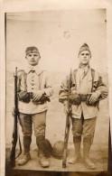 CPA 171 - MILITARIA - Carte Photo Militaire - Soldat / Militaires Du 35e Régiment D´infanterie Colonial - Characters