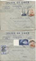 Belgisch Congo Belge 3 L.Avion De Julen De Cock C.Elisabethville 1950 V.Gent PR605 - Congo Belge