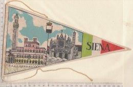 BN017 - BANDIERINA SOUVENIR IN TELA Anni '50 - SIENA - Pubblicitari