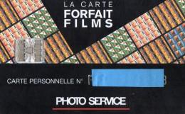 CARTE A PUCE    PHOTO SERVICE  La Carte Forfait Films - Francia