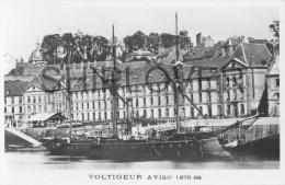 Aviso VOLTIGEUR (Marine Nationale)  - Carte Photo Marius Bar - Photo/bateau/schiff - Warships