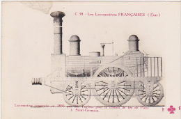 22996 Locomotives Francaises  1836 Tayleur Chemin Fer Paris Saint Germain  -C38 Trefle Fleury FF Cccc