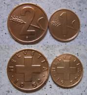 Schweiz 2 - 1 Rappen 1952 - Bronze                                     (X167) - Schweiz
