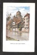 CPA NÜRNBERG Um 1900 Partie An Der Insel Schütt Mit Jude Jewish Synagoge Synagogue  Litho Ungelaufen UNUSED - Nuernberg