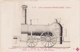 22998 Locomotives Francaises  La Seine 1835 Bury Liverpool Paris St Germain  -C37 Trefle Fleury FF Cccc - Matériel