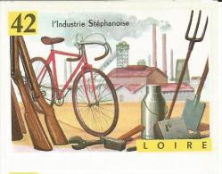 France, Département  42, Saint Etienne - Industrie, Vélo, Manufacture, Fusils, Outils - Image Volumetrix Geographie - Vieux Papiers