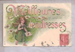 CPA Gauffrée - Fantaisie - Angelot Et Fleurs - Meilleurs Tendresses - Holidays & Celebrations