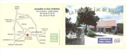 Carte Publicitaire  Double  :46 :Cales -  Ferme Du Lac De Boutel : Chambres - Tables D´Hôtes - Other Municipalities