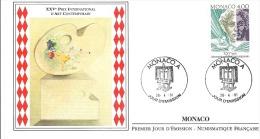 XXVe PRIX INTERNATIONAL D'ART CONTEMPORAIN   1991 - FDC