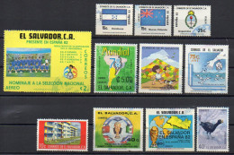 El Salvador / Lot 11 Used (o) Stamps - Salvador