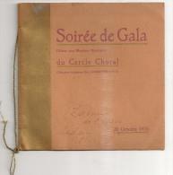 @ SEDAN ARDENNES 08 RARE PROGRAMME DE GALA CERCLE CHORALE 28/10/1925 OFFERTE AUX MEMBRES HONORAIRES - Programmi
