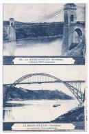 CPSM Roche Bernard Morbihan 56 L´ancien Et Nouveau Pont Suspendu édit Artaud Non écrite Bon état Dos Vert - La Roche-Bernard
