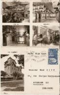 ANNECY (74) : Hotel Villa Mary - Carte-lettre 4 Faces Avec Tarifs 1950 Et 5 Photos De L'établissement - Annecy