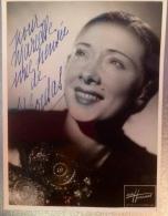 Autographe  Chanteuse Music-hall Paris Vedette De La Chanson Bergere Bergere Marcelle Bordac - Programmes