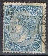 Sello 4 Cuartos Isabel II 1865, Fechador PUENTE GENIL (Cordoba), Num 75 º - 1850-68 Reino: Isabel II