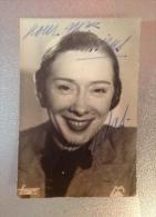 Autographe Marcelle Bordac  Chanteuse Music-hall Paris Vedette De La Chanson Folies Bergere - Programmes