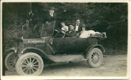 Postcard (Automotive) - Old Car Foto Zvezda Knjazevac - Passenger Cars