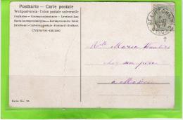 Fantasiekaart Met OCB 53 - Afstempeling BEAUVECHAIN Relais - 1893-1907 Coat Of Arms