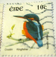 Ireland 2002 Bird Kingfisher 10c - Used - Usati